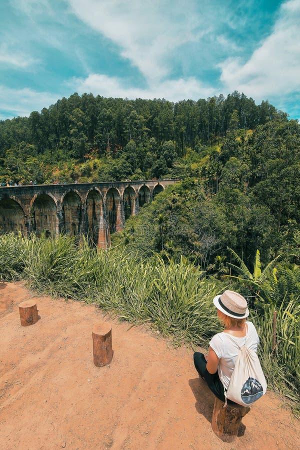 Γέφυρα εννέα αψίδων στοκ φωτογραφία