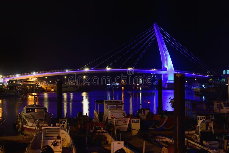 Γέφυρα εραστών ` s σε Tamsui, νέα Ταϊπέι, Ταϊβάν στοκ εικόνα
