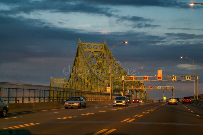 Γέφυρα Ζακ-Cartier στοκ φωτογραφίες