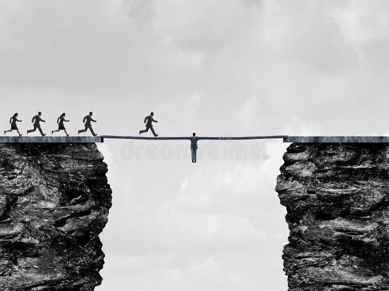 Γέφυρα ηγεσίας διανυσματική απεικόνιση