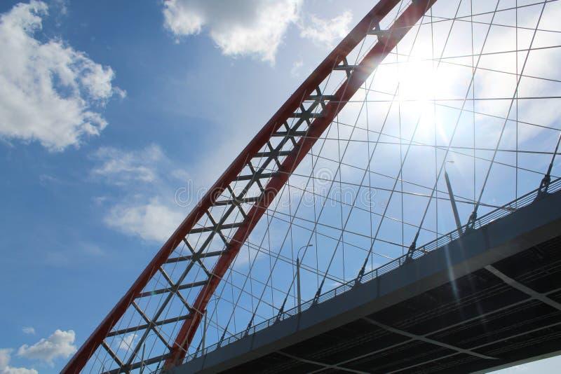 γέφυρα ηλιόλουστη στοκ φωτογραφίες