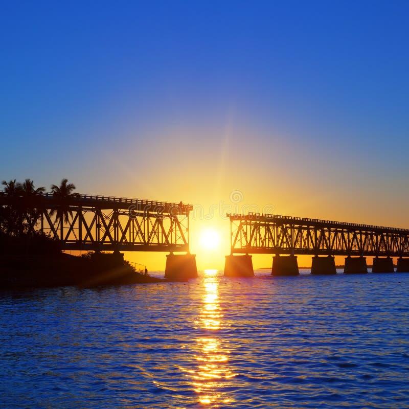 Γέφυρα ηλιοβασιλέματος στοκ εικόνες με δικαίωμα ελεύθερης χρήσης