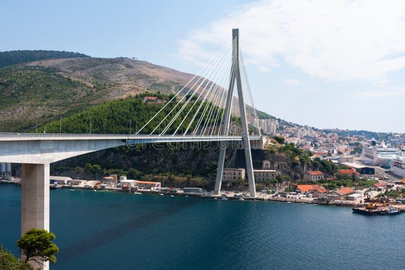 Γέφυρα και λιμένας σε Dubrovnik στοκ φωτογραφία με δικαίωμα ελεύθερης χρήσης
