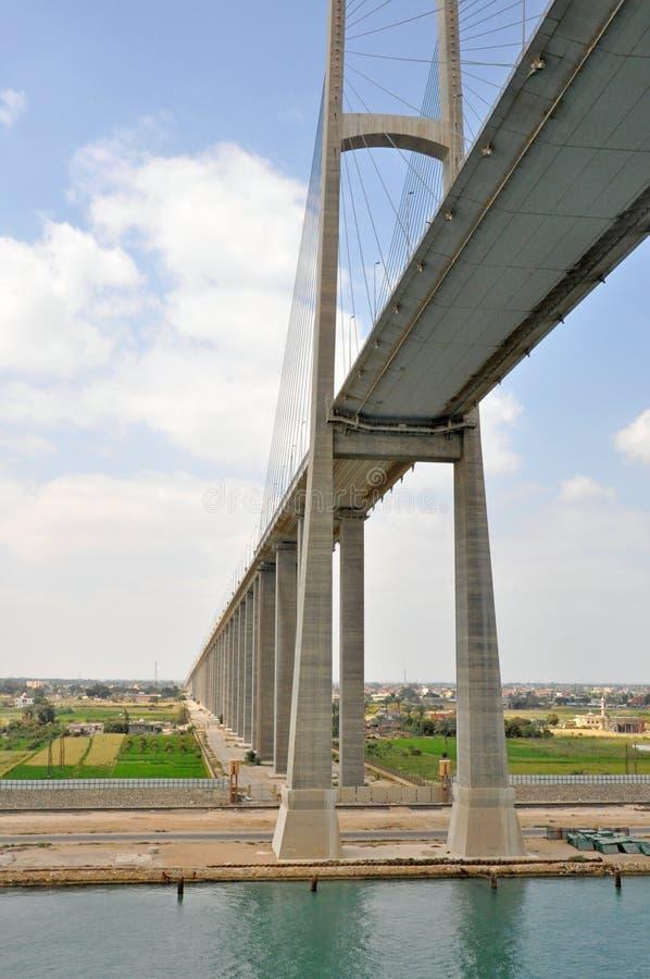 Γέφυρα καναλιών Σουέζ στοκ φωτογραφία με δικαίωμα ελεύθερης χρήσης