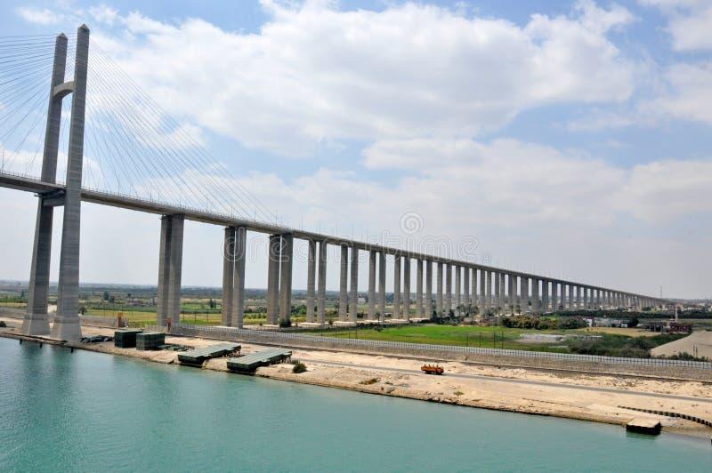 Γέφυρα καναλιών Σουέζ στοκ εικόνα