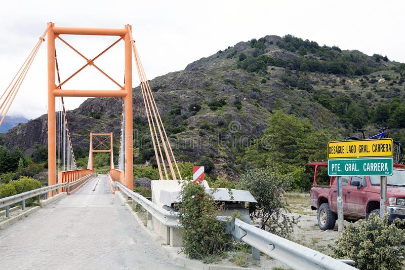 Γέφυρα κατά μήκος του Carretera νότιου, Παταγωνία, Χιλή στοκ φωτογραφία με δικαίωμα ελεύθερης χρήσης