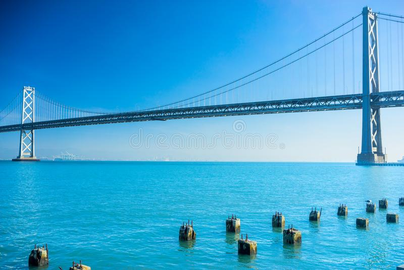 Γέφυρα κόλπων, Σαν Φρανσίσκο, Καλιφόρνια, ΗΠΑ στοκ φωτογραφία με δικαίωμα ελεύθερης χρήσης