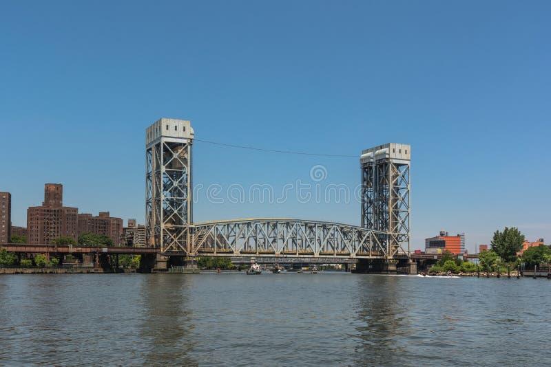 Γέφυρα λεωφόρων πάρκων πέρα από τον ποταμό Harlem, Μανχάταν, NYC στοκ φωτογραφίες