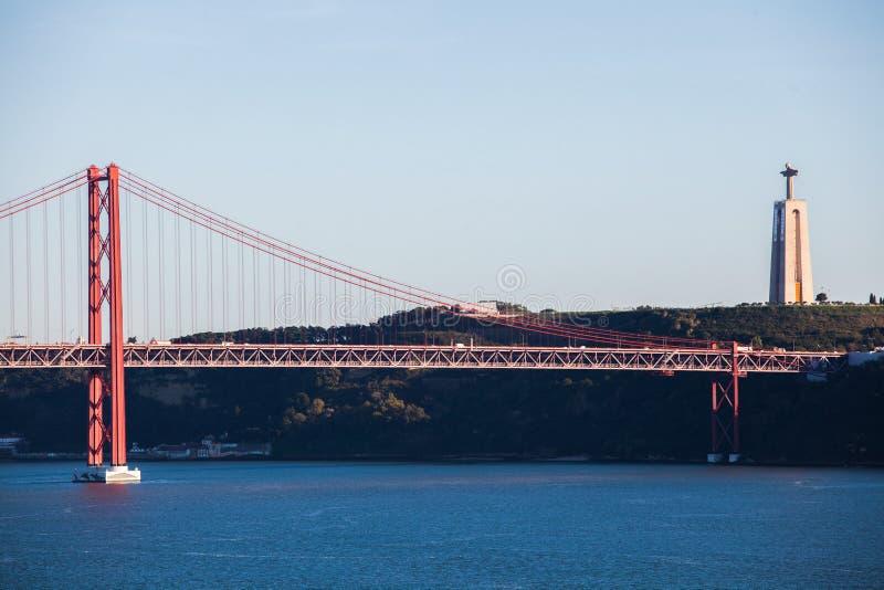 Γέφυρα Λισσαβώνα αναστολής στοκ φωτογραφίες με δικαίωμα ελεύθερης χρήσης