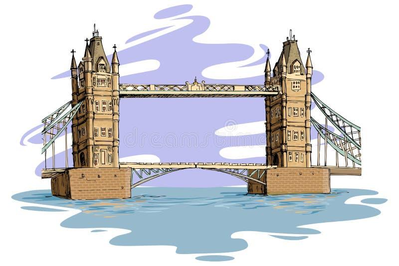 γέφυρα Λονδίνο διανυσματική απεικόνιση