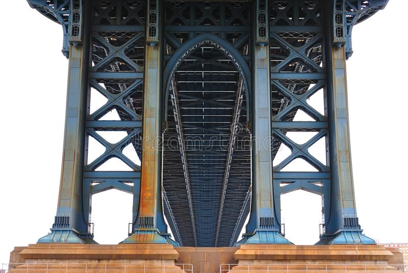 γέφυρα Μανχάτταν κάτω στοκ εικόνα