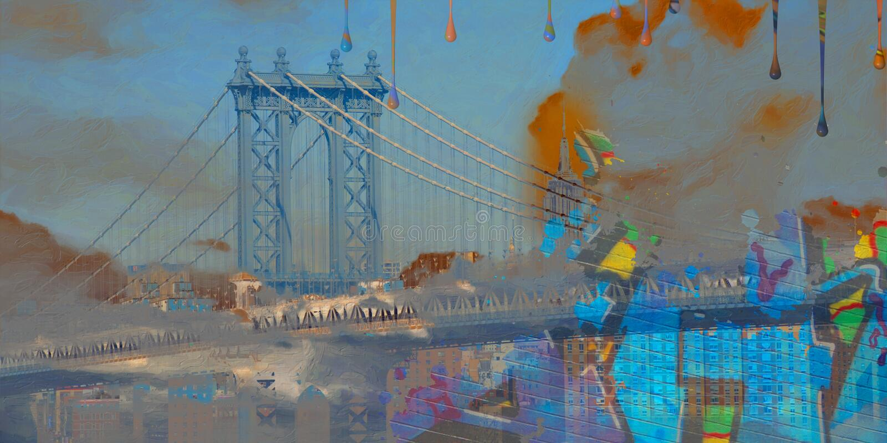 γέφυρα Μανχάτταν απεικόνιση αποθεμάτων