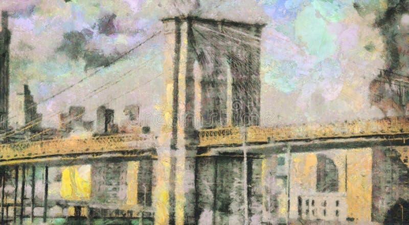γέφυρα Μανχάτταν ελεύθερη απεικόνιση δικαιώματος