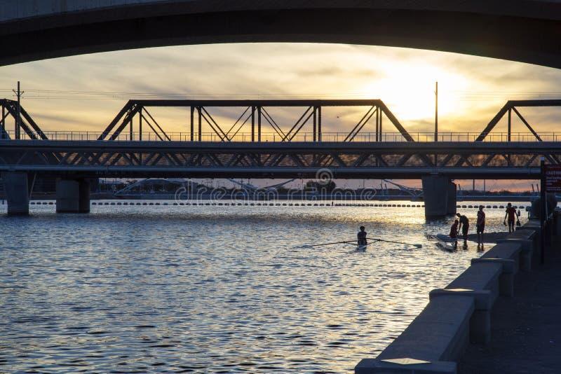Γέφυρα μετρό στοκ φωτογραφία