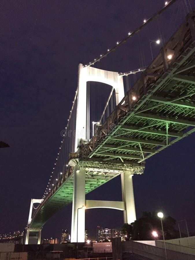 Γέφυρα ουράνιων τόξων στο Τόκιο Ιαπωνία στοκ φωτογραφία