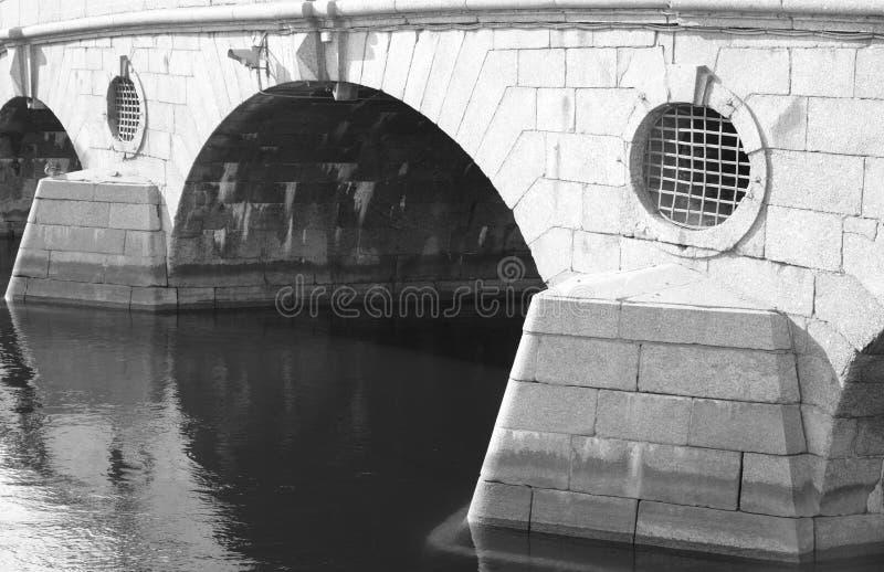 Γέφυρα πέρα από τον ποταμό Fontanka στοκ φωτογραφία με δικαίωμα ελεύθερης χρήσης