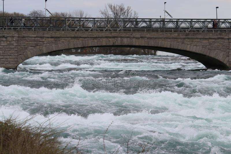 Γέφυρα πέρα από τον ποταμό Niagara στοκ εικόνες με δικαίωμα ελεύθερης χρήσης