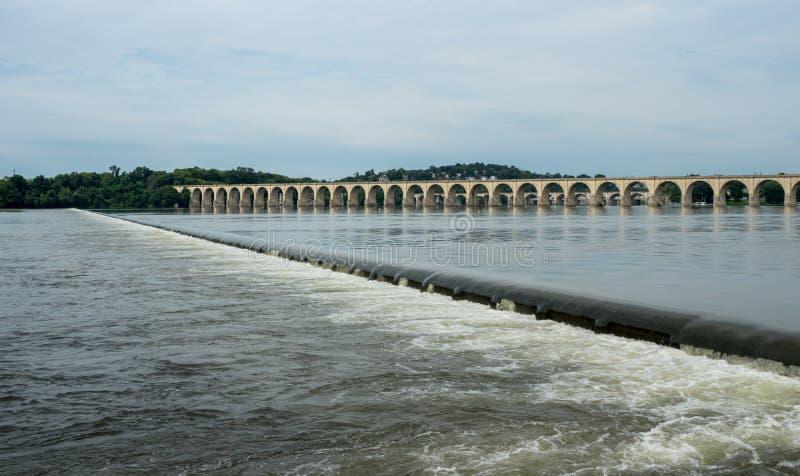Γέφυρα πέρα από τον ποταμό Susquehanna στοκ εικόνα