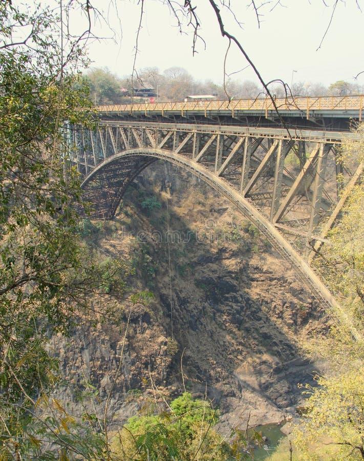 Γέφυρα πέρα από το Ζαμβέζη στοκ φωτογραφίες με δικαίωμα ελεύθερης χρήσης