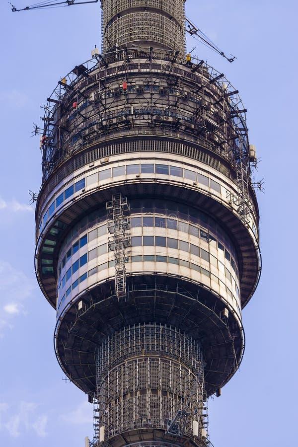 Γέφυρα παρατήρησης του τηλεοπτικού πύργου Ostankino, Μόσχα στοκ εικόνες