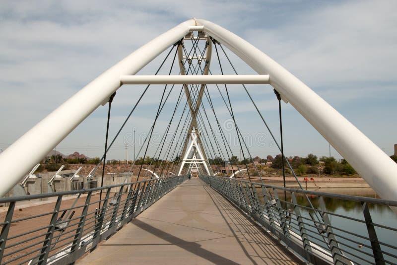 Γέφυρα περπατήματος φραγμάτων πόλης λιμνών Tempe στοκ φωτογραφίες με δικαίωμα ελεύθερης χρήσης