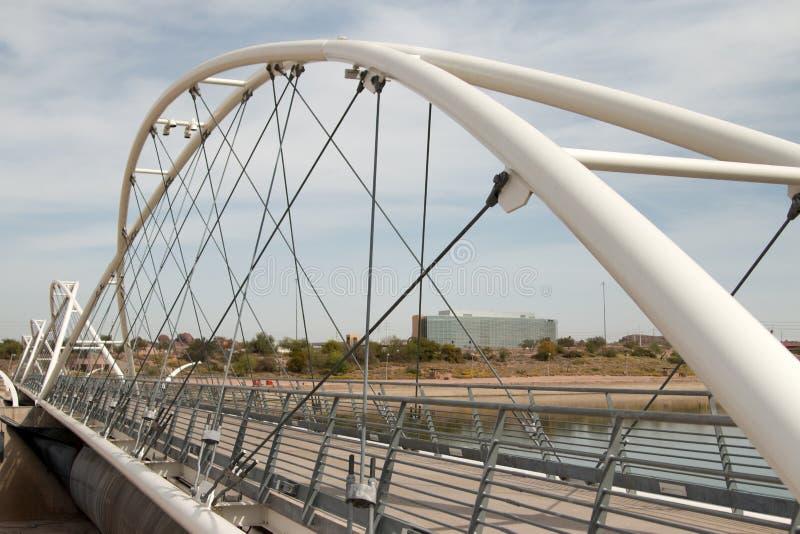 Γέφυρα περπατήματος φραγμάτων πόλης λιμνών Tempe στοκ φωτογραφία με δικαίωμα ελεύθερης χρήσης