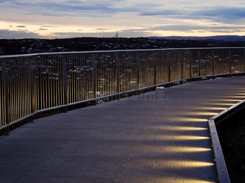 Γέφυρα περπατήματος Anzac στοκ εικόνα