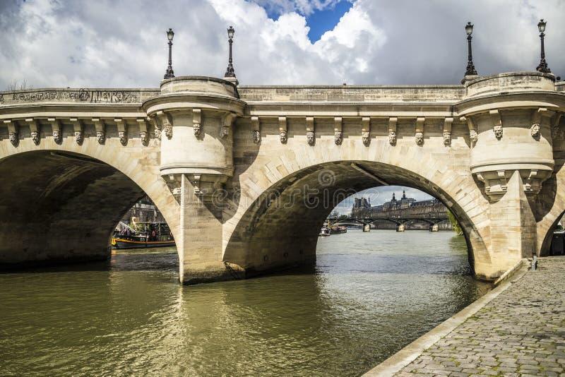 Γέφυρα, ποταμός Σηκουάνας, Παρίσι στοκ εικόνα