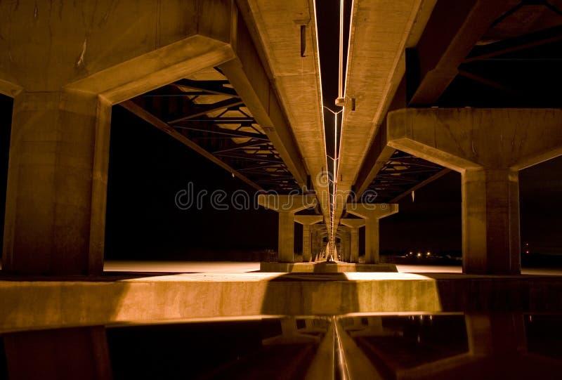 Γέφυρα ποταμών Jemseg τη νύχτα στοκ εικόνα με δικαίωμα ελεύθερης χρήσης