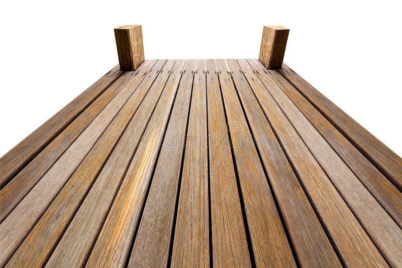 Γέφυρα που απομονώνεται ξύλινη στοκ φωτογραφία με δικαίωμα ελεύθερης χρήσης