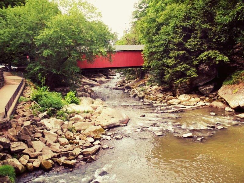 γέφυρα που καλύπτεται στοκ φωτογραφία