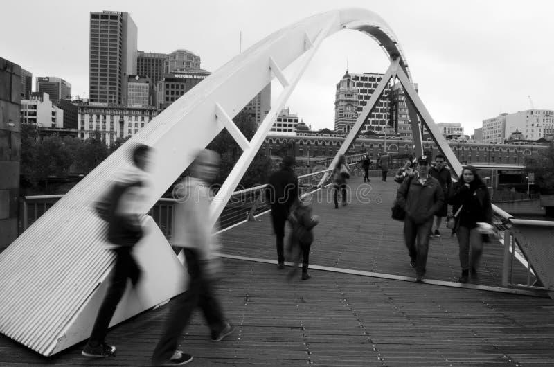 Γέφυρα ποδιών Southbank - Μελβούρνη στοκ φωτογραφία