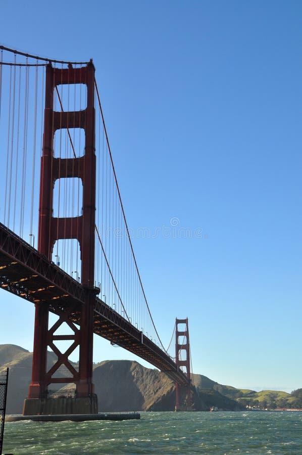 Γέφυρα πυλών Goden από το σημείο οχυρών στοκ φωτογραφία