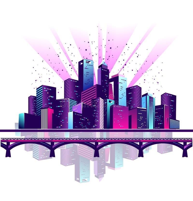 Γέφυρα πόλεων νέου απεικόνιση αποθεμάτων