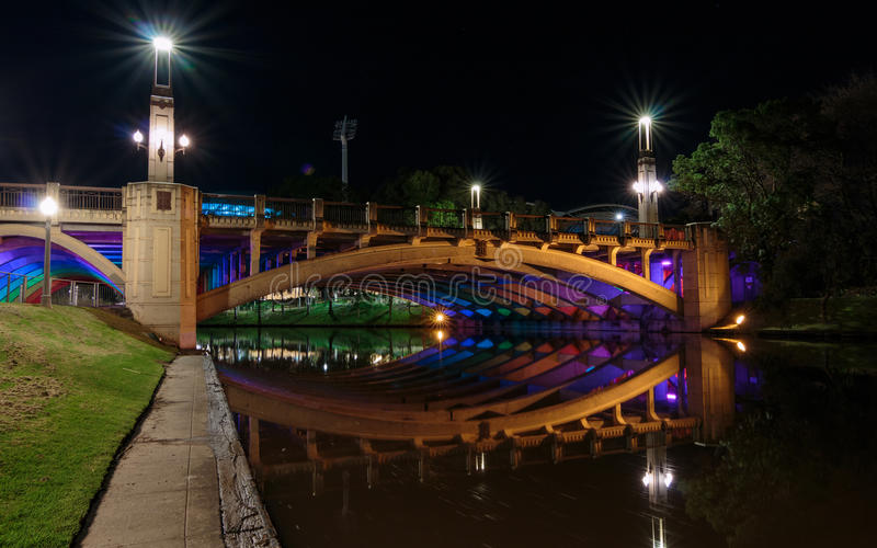 Γέφυρα πόλεων της Αδελαΐδα στοκ εικόνα με δικαίωμα ελεύθερης χρήσης