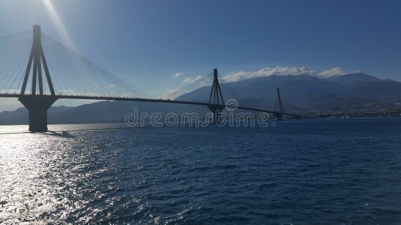 Γέφυρα Ρίο-Antirio στοκ φωτογραφίες με δικαίωμα ελεύθερης χρήσης