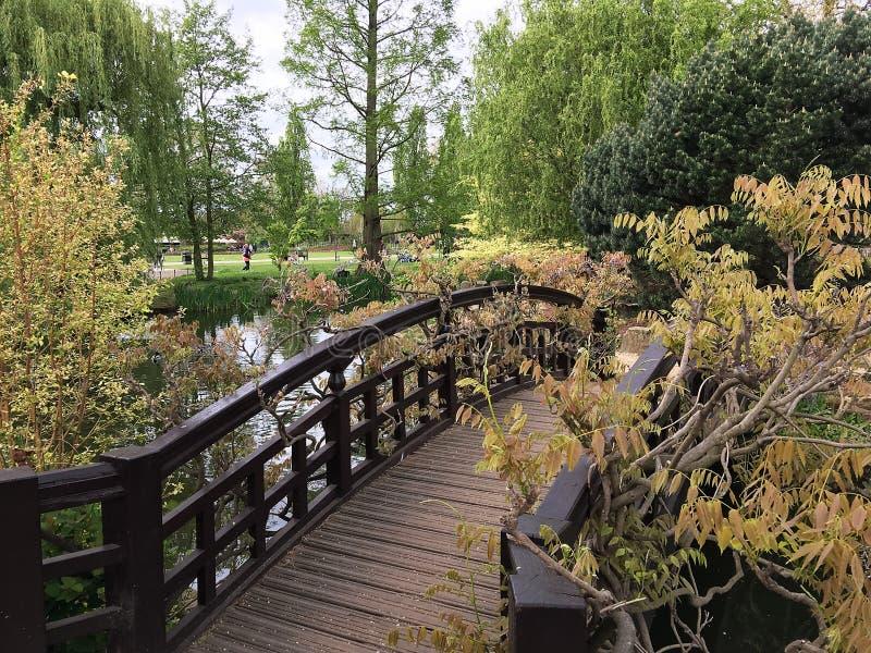 Γέφυρα σε ένα πάρκο στο Λονδίνο στοκ εικόνες