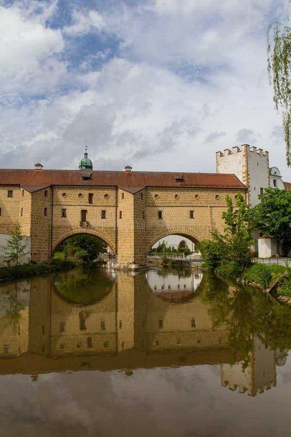 Γέφυρα σε Amberg στοκ εικόνες