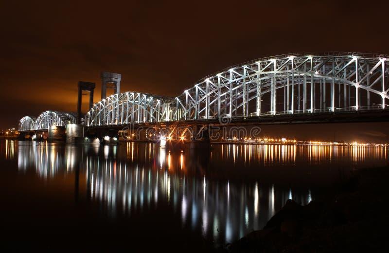 Γέφυρα σιδηροδρόμων της Φινλανδίας, ST - Πετρούπολη, Ρωσία στοκ φωτογραφία με δικαίωμα ελεύθερης χρήσης