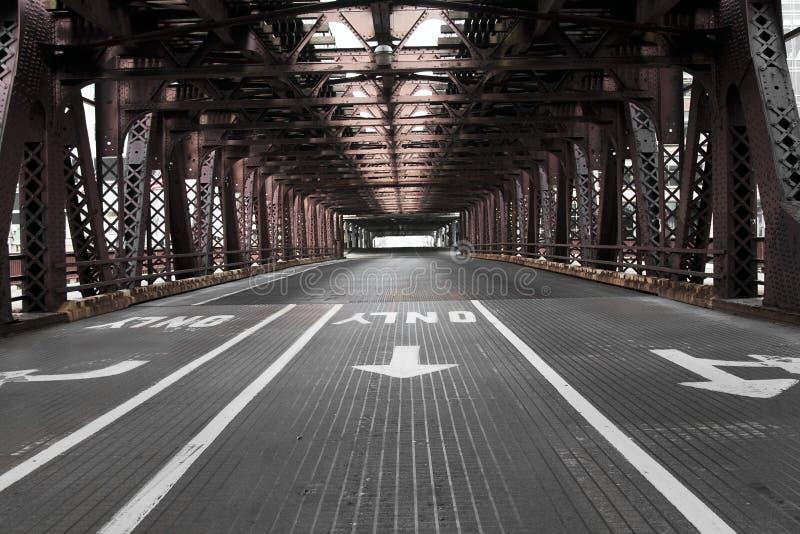 γέφυρα Σικάγο στοκ εικόνες