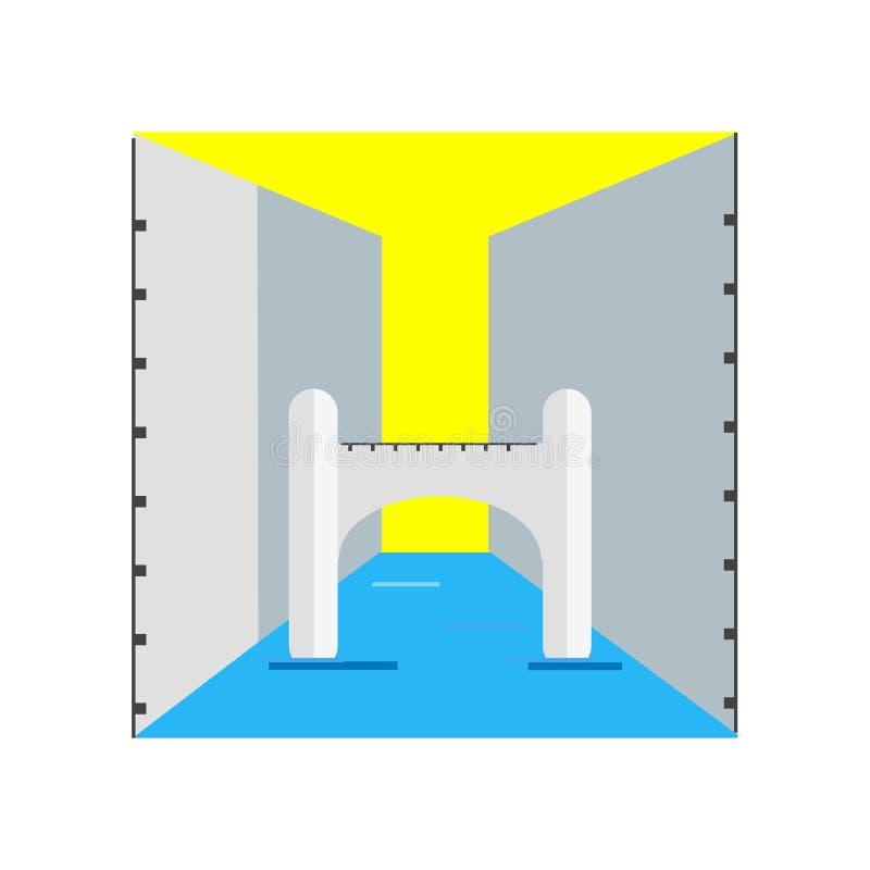 Γέφυρα στεναγμών σημαδιού και του συμβόλου εικονιδίων του διανυσματικού που απομονώνονται στο άσπρο BA απεικόνιση αποθεμάτων