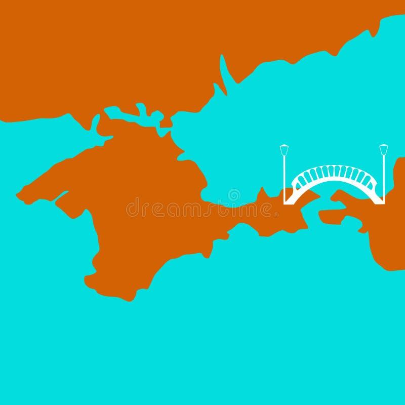 Γέφυρα στην Κριμαία διάνυσμα ελεύθερη απεικόνιση δικαιώματος