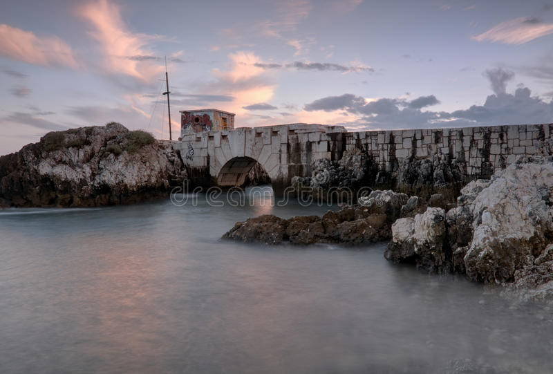 Γέφυρα στη βάρκα στοκ φωτογραφίες με δικαίωμα ελεύθερης χρήσης