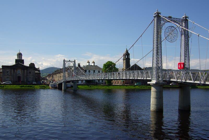 Γέφυρα στη Iνβερνές, Σκωτία στοκ φωτογραφία με δικαίωμα ελεύθερης χρήσης