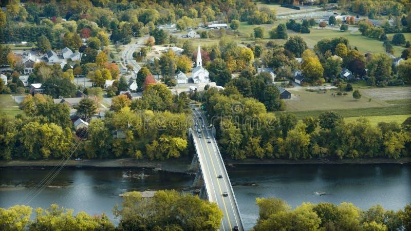 Γέφυρα στον ποταμό του Κοννέκτικατ στο Σάντερλαντ στοκ φωτογραφία με δικαίωμα ελεύθερης χρήσης