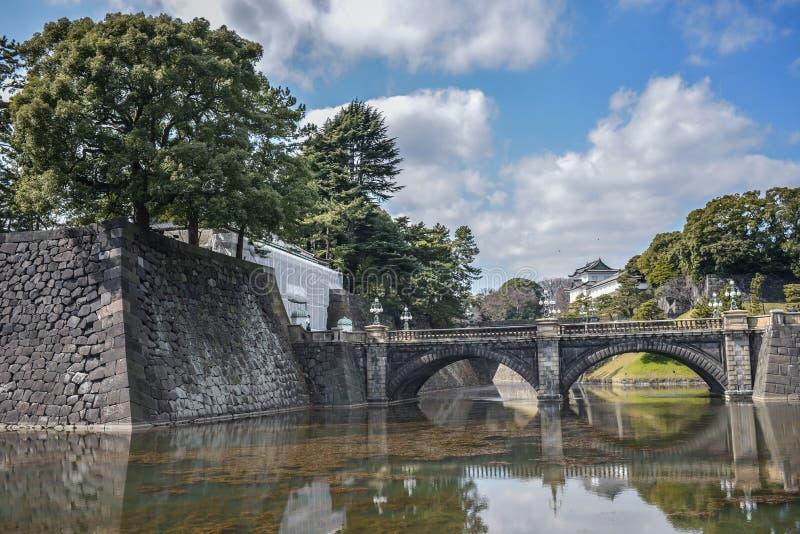 Γέφυρα στο αυτοκρατορικό παλάτι, Τόκιο Ιαπωνία στοκ εικόνες