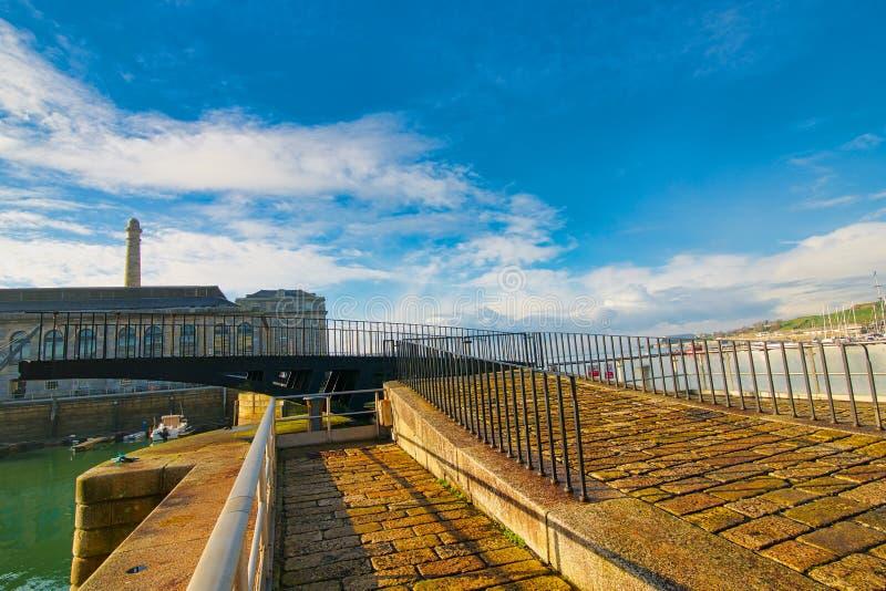 Γέφυρα στο βασιλικό ναυπηγείο του William στοκ φωτογραφία