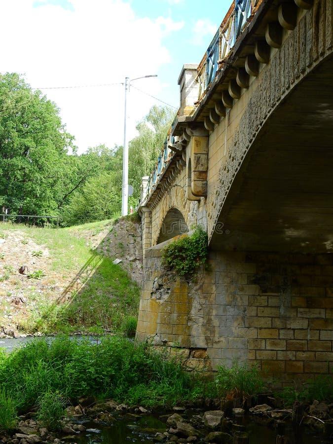 Γέφυρα στο μικρό ποταμό Panew σε Turawa στοκ εικόνες
