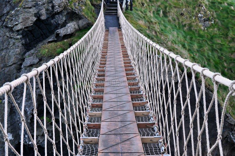 Γέφυρα σχοινιών στοκ φωτογραφίες