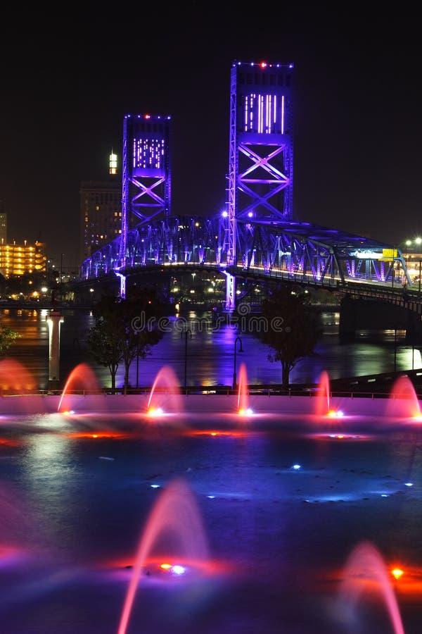 γέφυρα Τζάκσονβιλ στοκ φωτογραφία